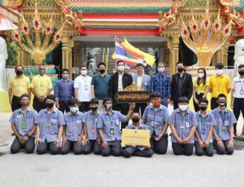 นนทบุรี   วิทยาลัยเทคโนโลยีปัญญาภิวัฒน์สืบสานประเพณีวันเข้าพรรษา
